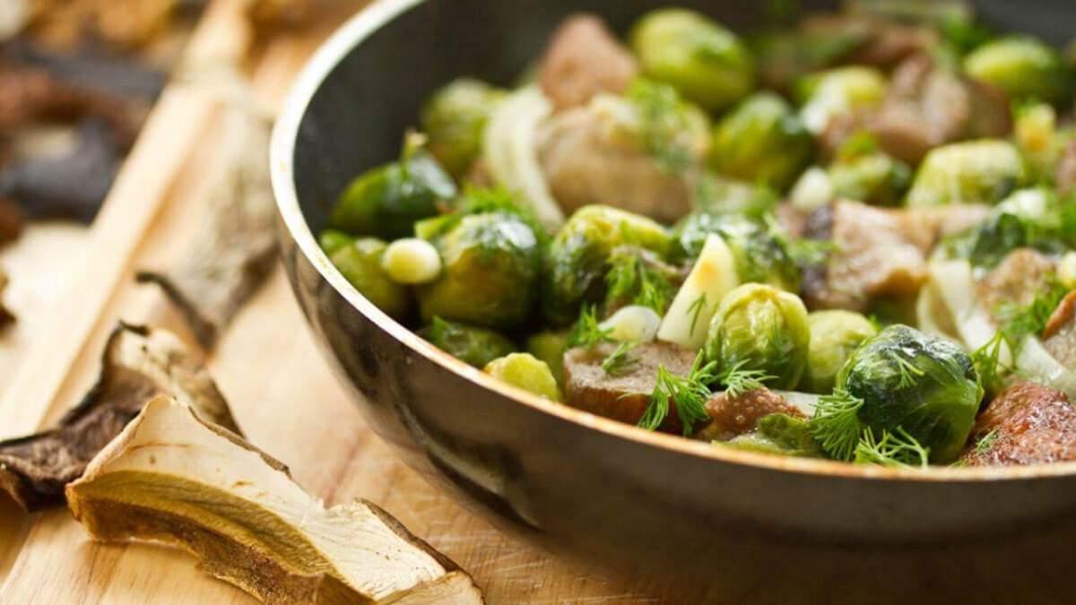Рецепты с брюссельской капусты: с чесноком, с ветчиной, диетическое пюре