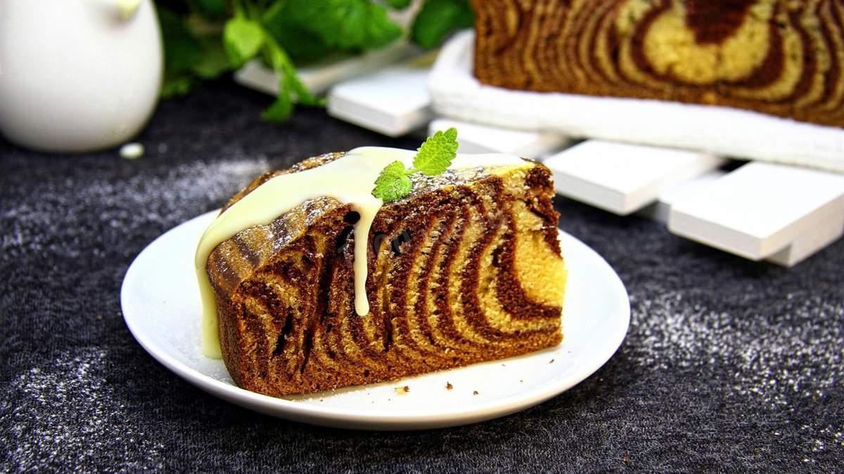 Рецепт торта Зебра в домашніх умовах