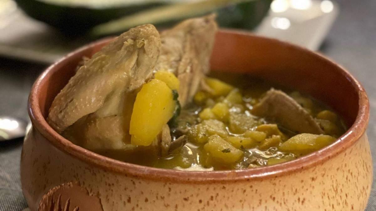 Колумбійський суп Ахіако від Ектора Хіменеса-Браво: рецепт