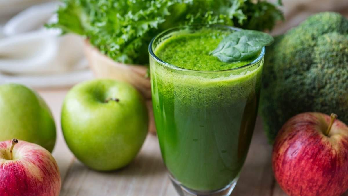 Рецепт смузі зі шпинатом, огірком, яблуком, бананом, авокадо