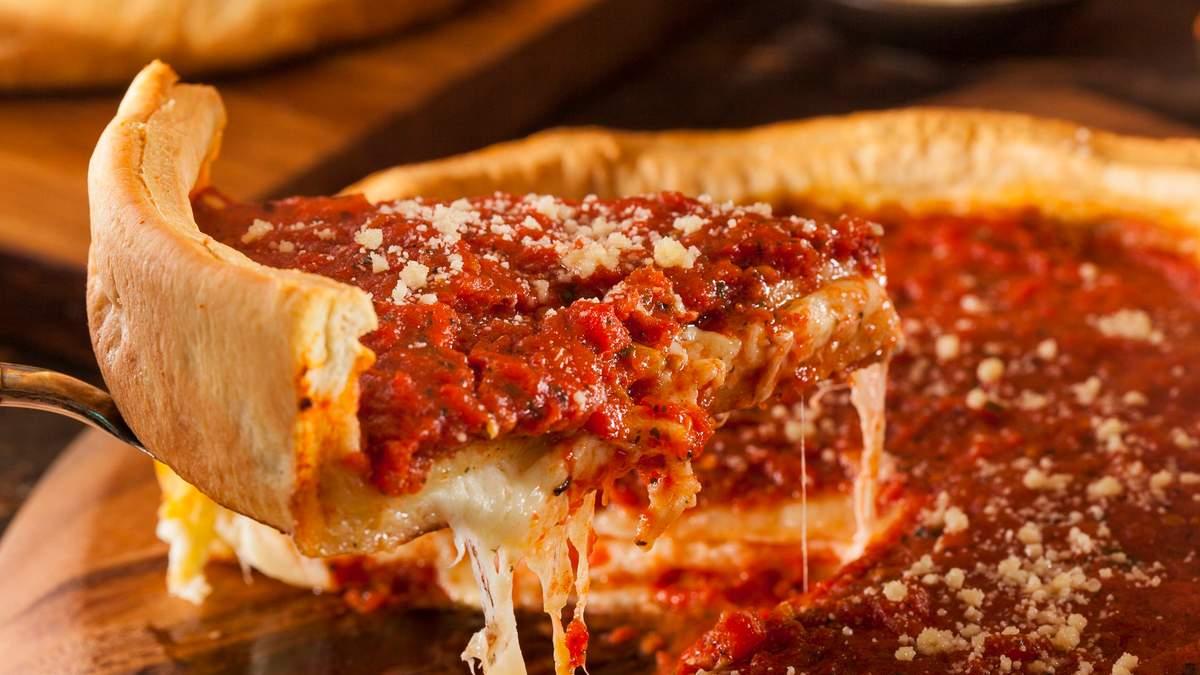 Чикагская пицца – Deep-Dish Pizza рецепт американской кухни