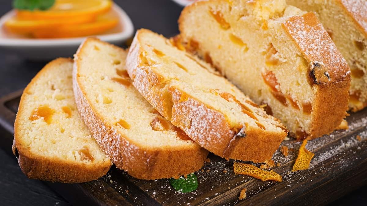 Апельсиновый кекс с курагой: домашний рецепт