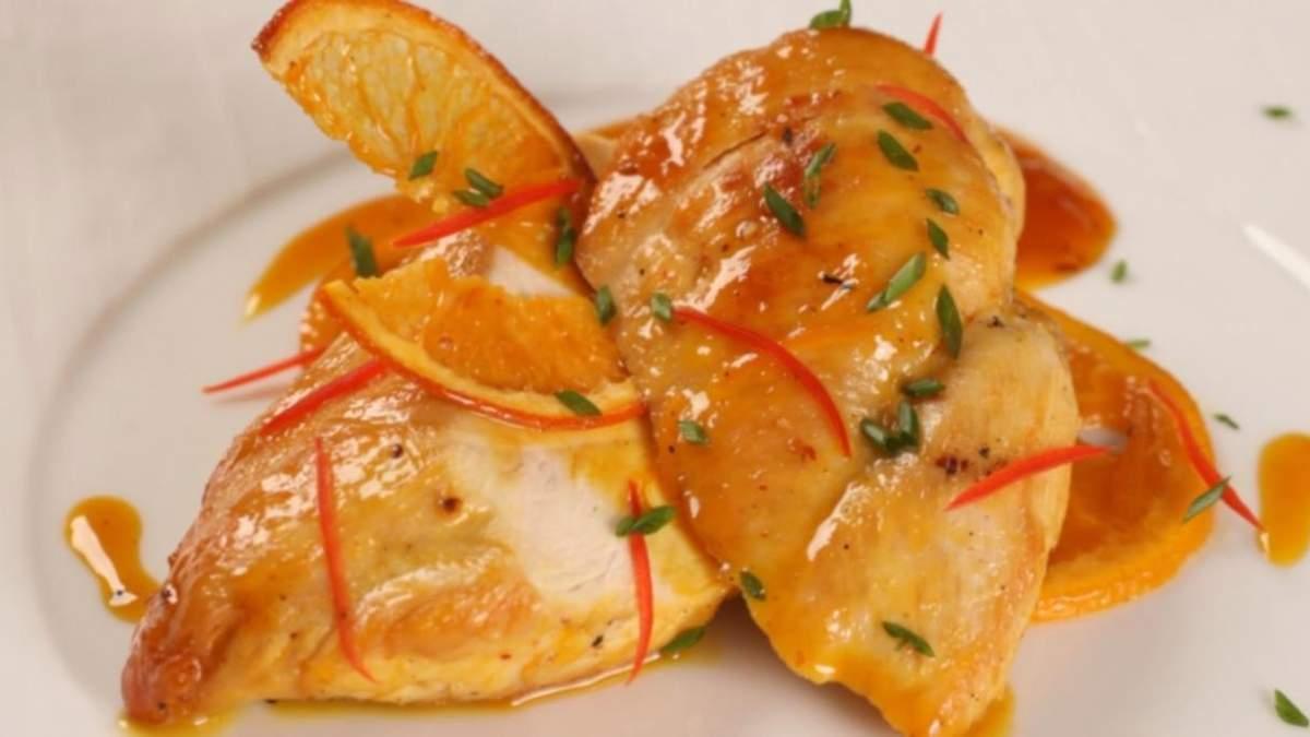 Куриная грудка в апельсиновом соусе: домашний рецепт