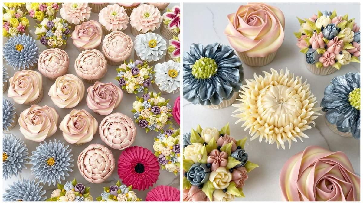 Кулінарка робить неймовірні квіткові кекси