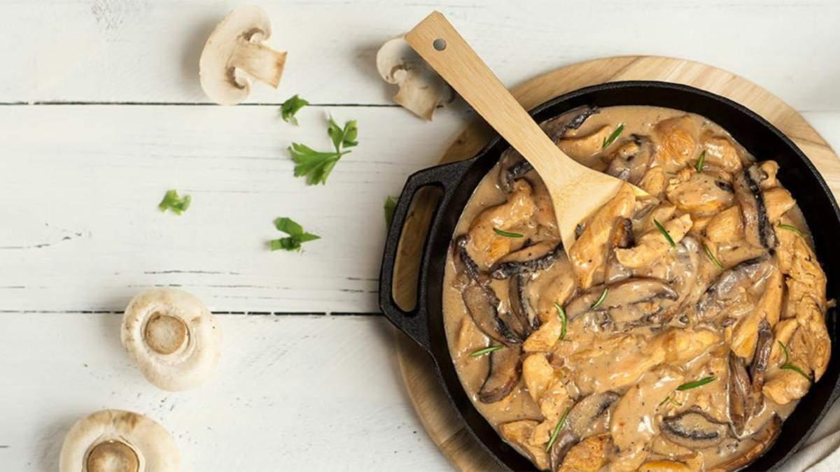 Як приготувати курятину су-від з грибним соусом: рецепт