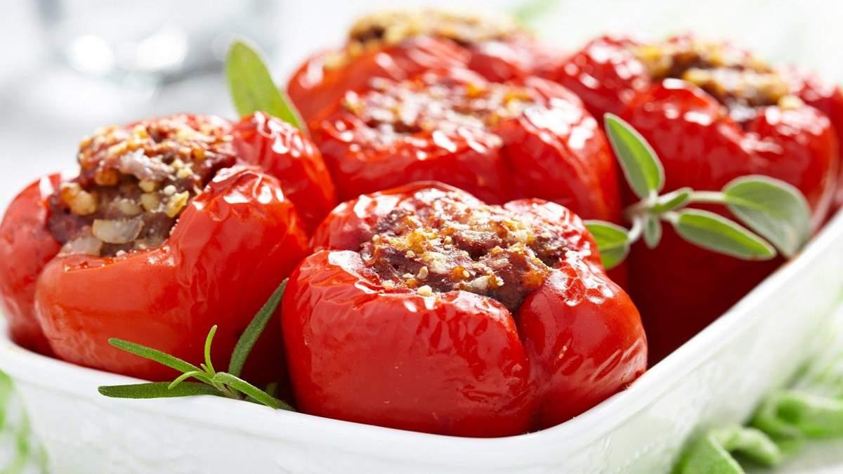 Рецепт фаршированого перцю в духовці