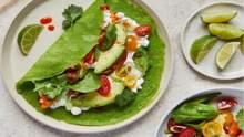Рецепт млинців зі шпинатом та авокадо від Джеймі Олівера