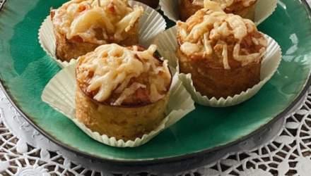 Картофельные кексы с курицей и сыром: домашний рецепт