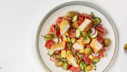 Салат Панцанелла с курицей: домашний рецепт