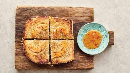 Тосты с креветками: рецепт от Джейми Оливера