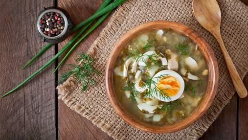 Как приготовить суп со щавелем и яйцом: домашний рецепт