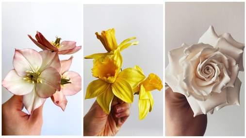 Мов щойно зрізані: кондитерка створює цукрові квіти, які не відрізнити від справжніх