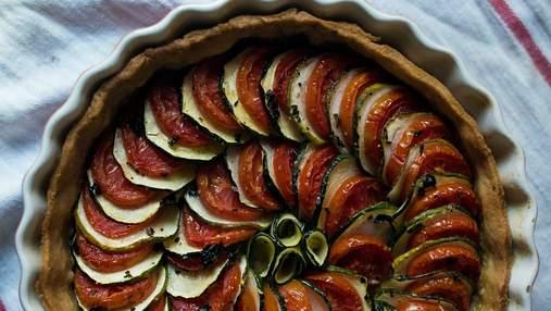 Відкритий пиріг з кабачком і томатами: простий домашній рецепт