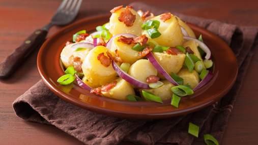 Окремий перекус чи гарнір – вирішувати вам: теплий салат із картоплі та бекону