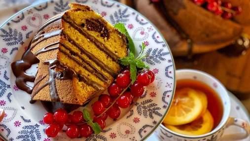 Смугастий кекс: випічка з гарбузом та шоколадом, яка виходить завжди